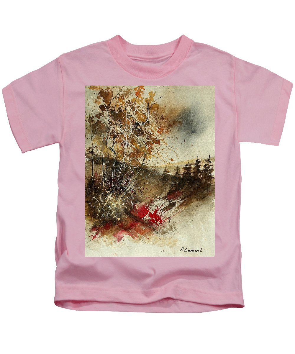 Tree Kids T-Shirt featuring the painting Watercolor 903052 by Pol Ledent