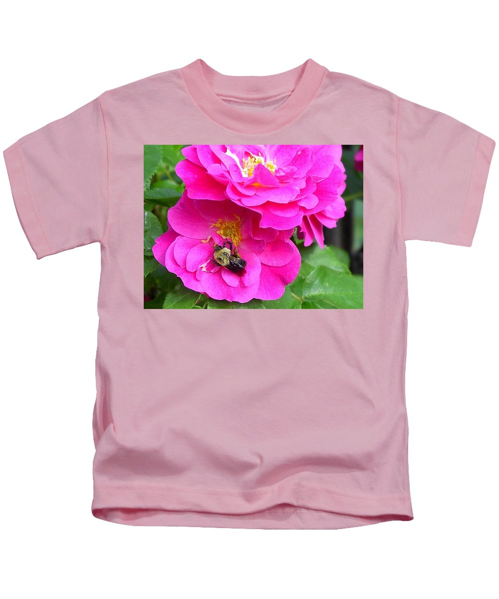 Charity Kids T-Shirt featuring the photograph Jc And Bee by Mary-Lee Sanders