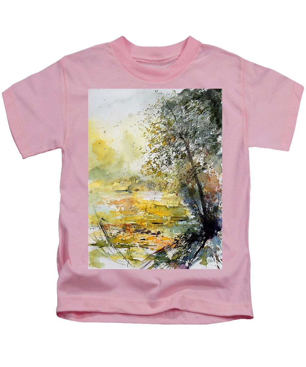 Water Kids T-Shirt featuring the painting Watercolor 050906 by Pol Ledent
