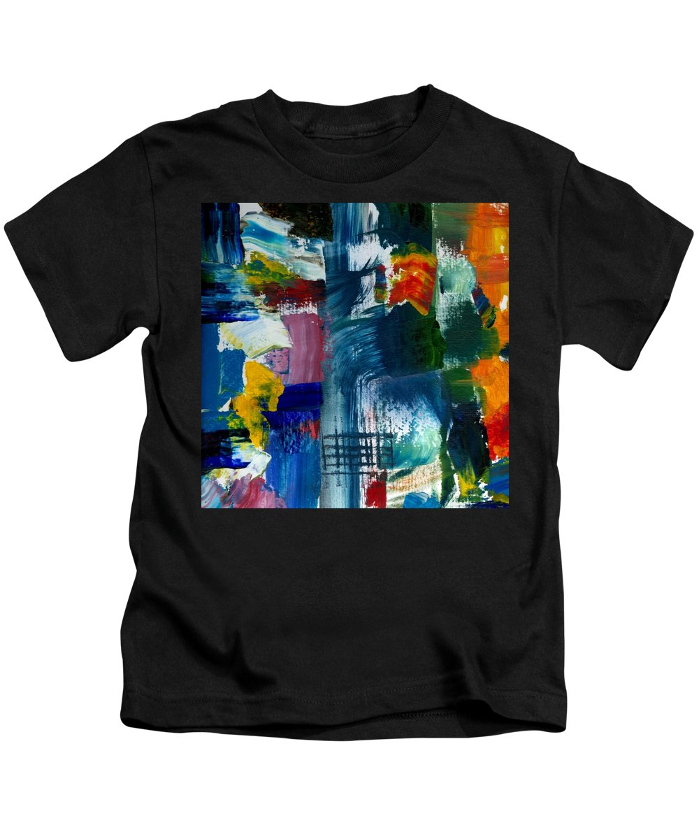 Abstract Collage Kids T-Shirt featuring the painting Abstract Color Relationships L by Michelle Calkins