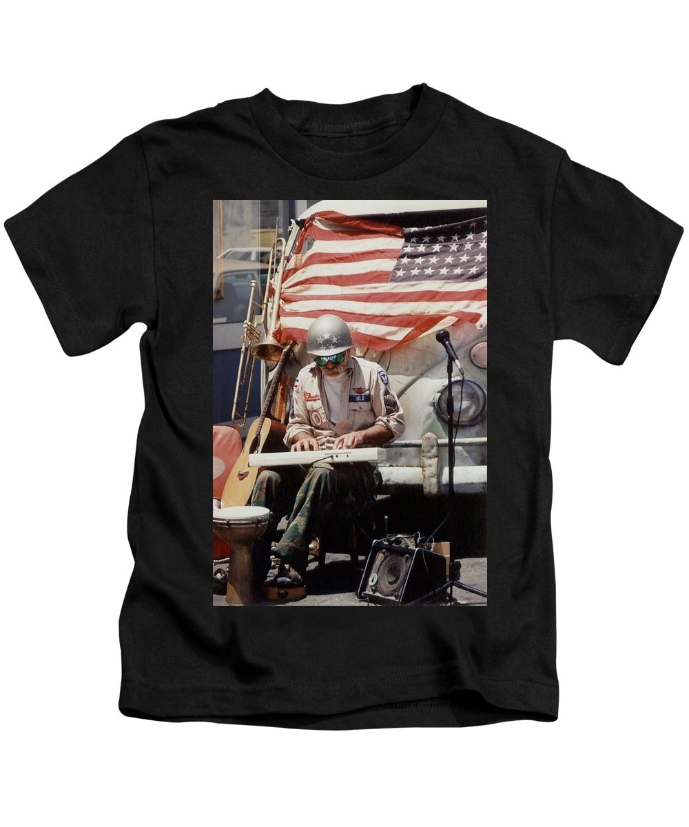 Charity Kids T-Shirt featuring the photograph Born In The Usa by Mary-Lee Sanders
