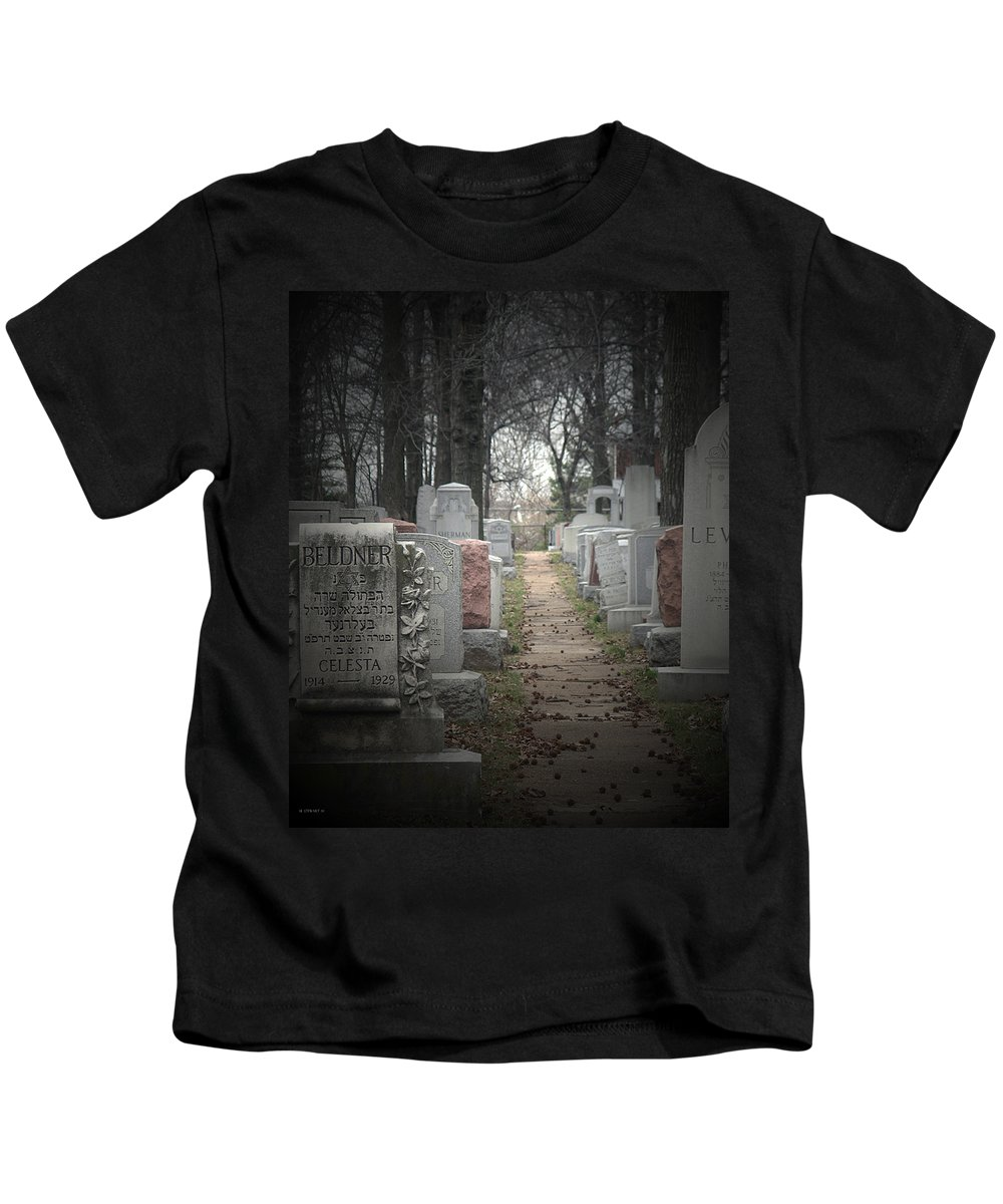 Cemetary Kids T-Shirt featuring the photograph Closure by Albert Stewart