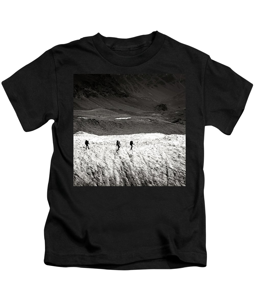 Active Kids T-Shirt featuring the photograph They Are Going ... by Konstantin Dikovsky
