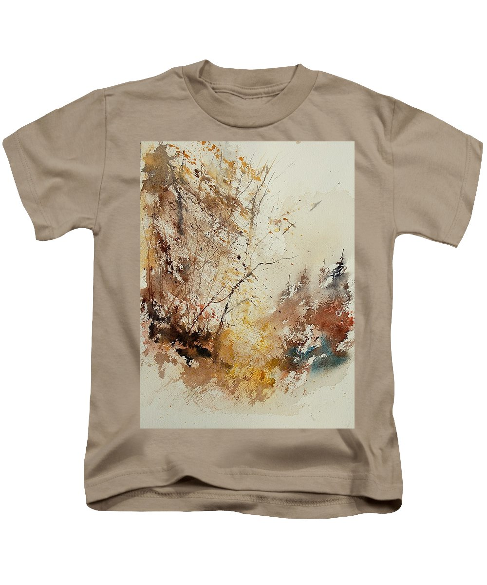Tree Kids T-Shirt featuring the painting Watercolor 903012 by Pol Ledent
