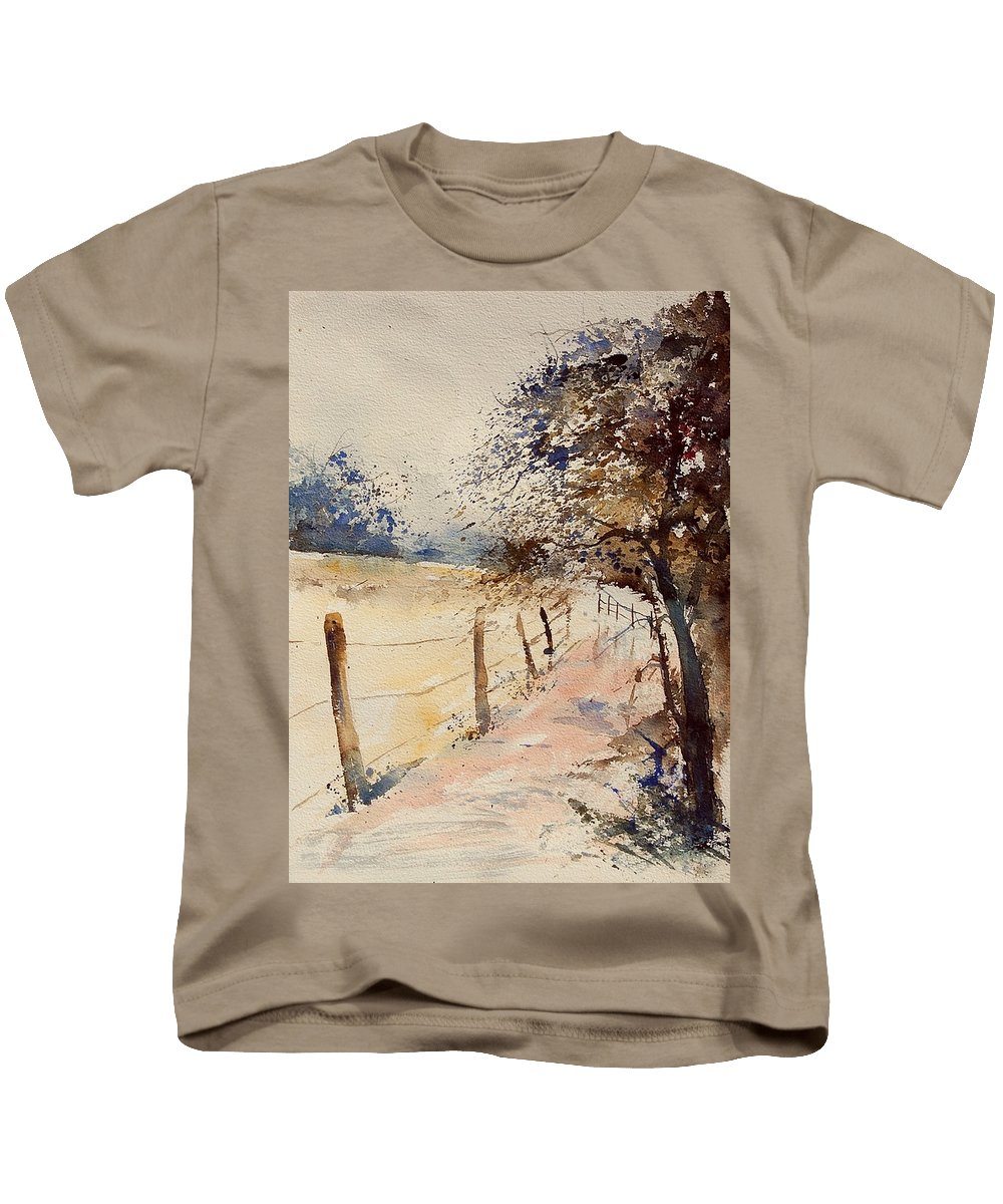 Tree Kids T-Shirt featuring the painting Watercolor 041106 by Pol Ledent