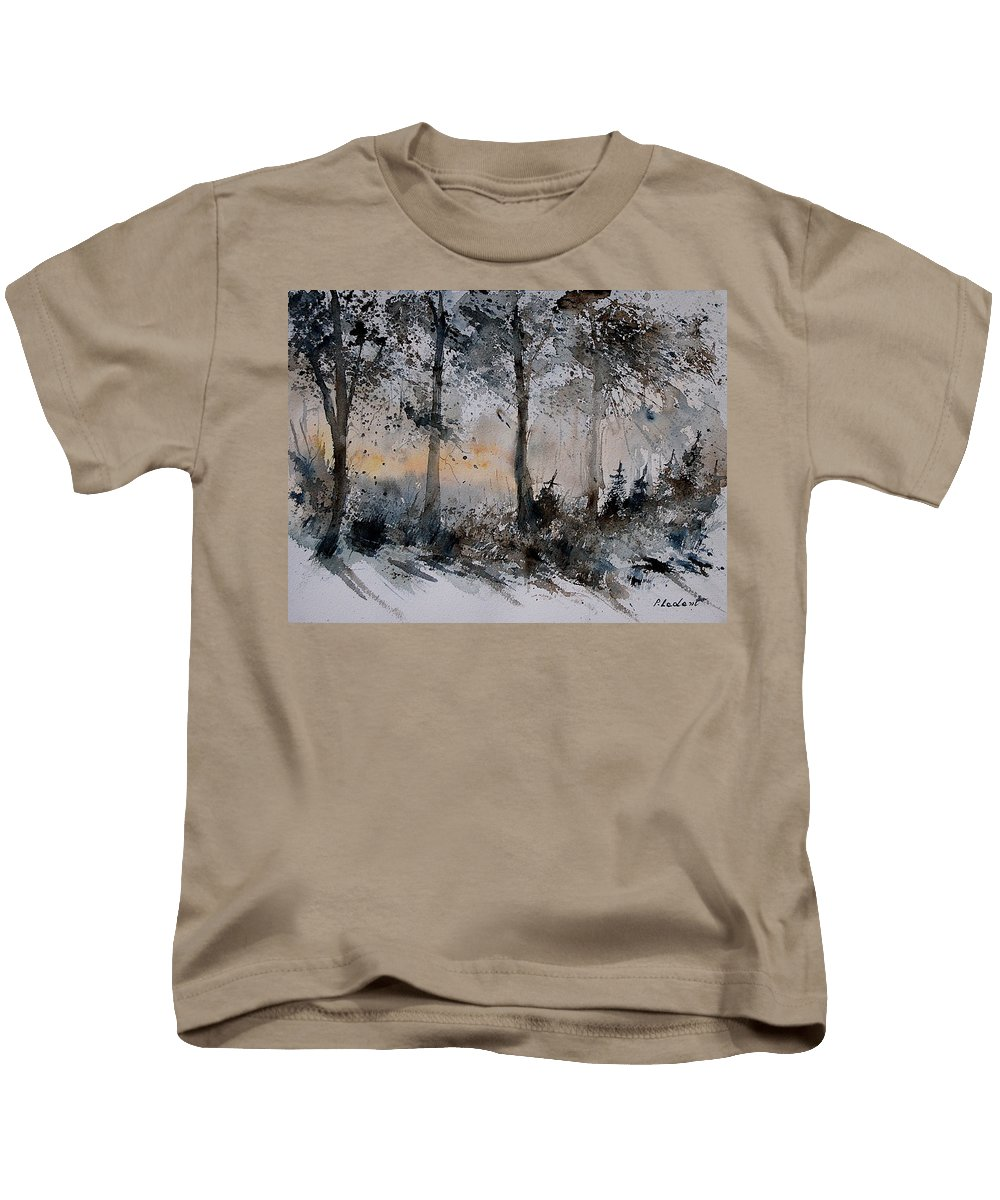 Tree Kids T-Shirt featuring the painting Watercolor 141206 by Pol Ledent