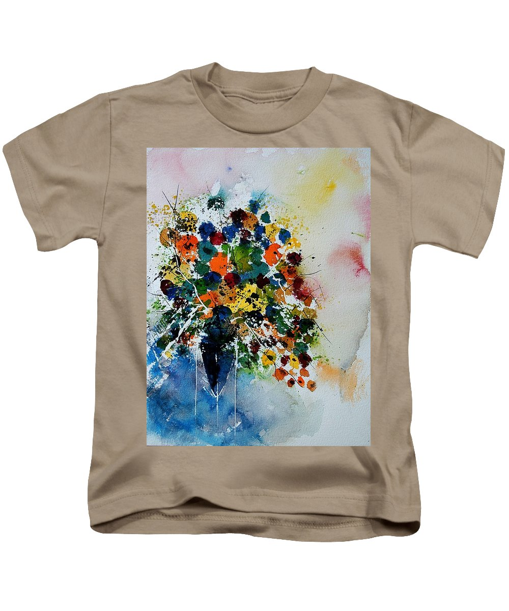 Flowers Kids T-Shirt featuring the painting Watercolor 220407 by Pol Ledent