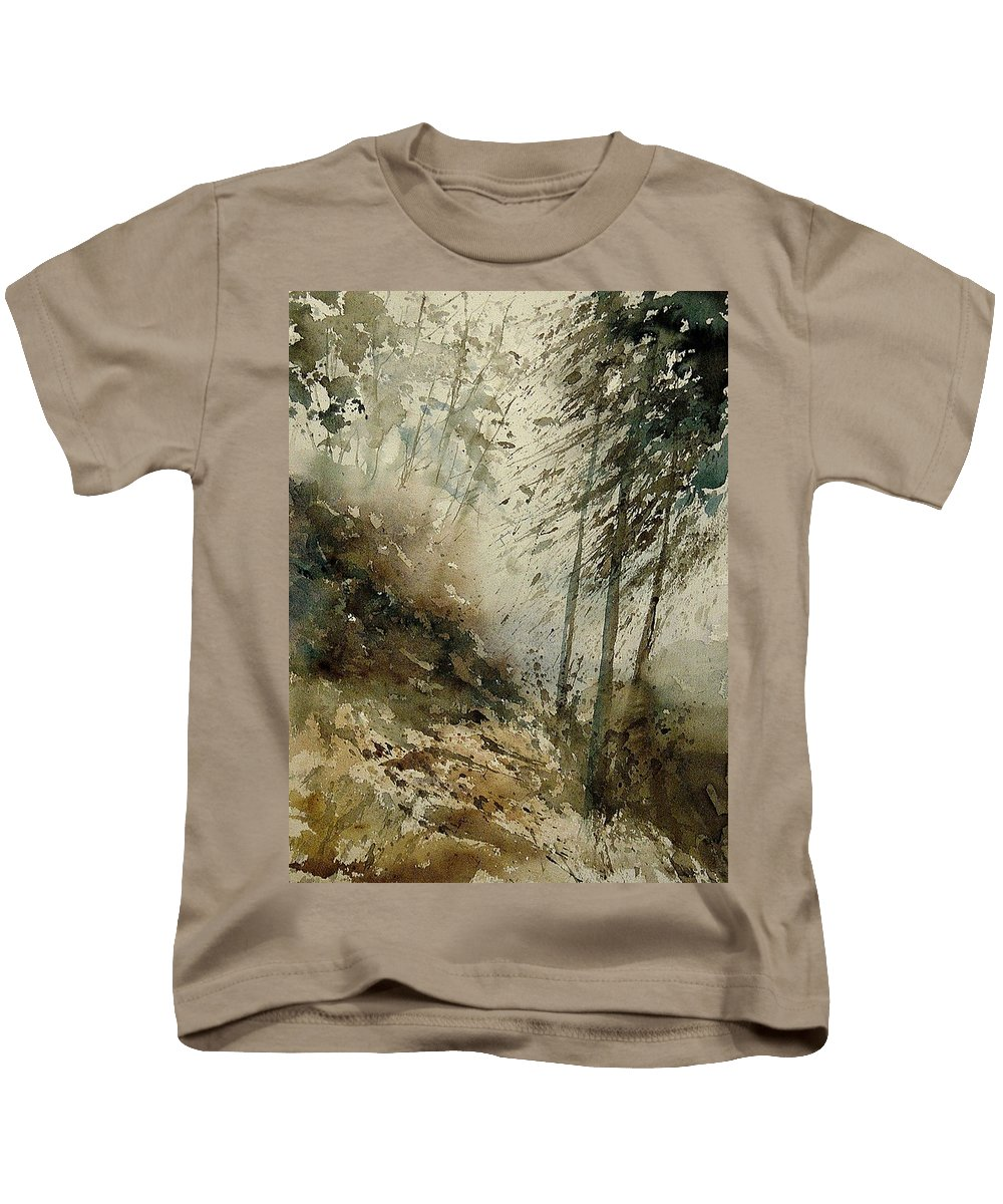 Tree Kids T-Shirt featuring the painting Watercolor 271005 by Pol Ledent