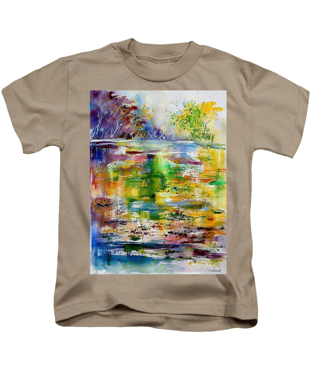Water Kids T-Shirt featuring the painting Watercolor 6878 by Pol Ledent