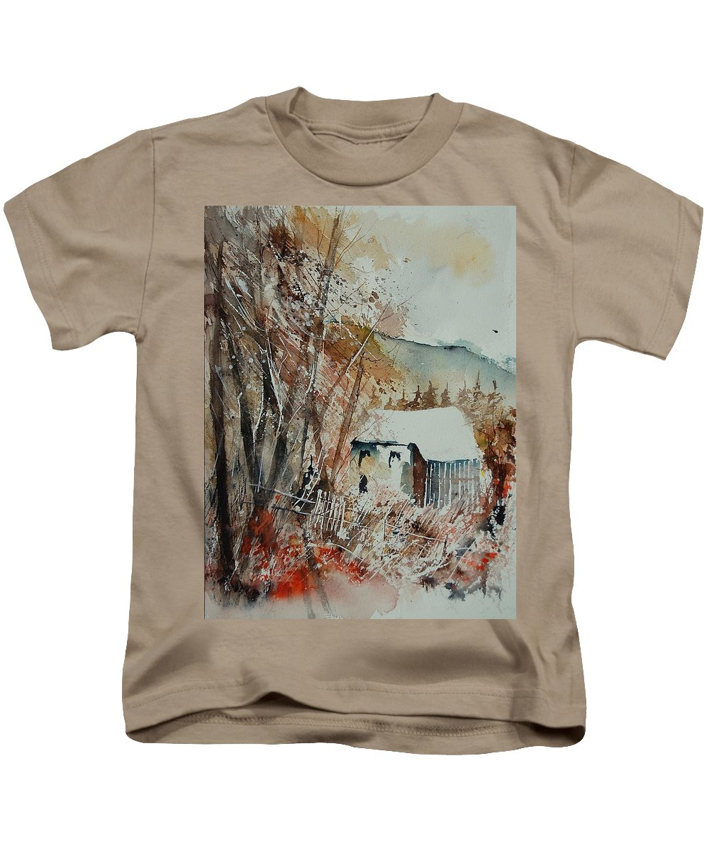 Tree Kids T-Shirt featuring the painting Watercolor 902001 by Pol Ledent