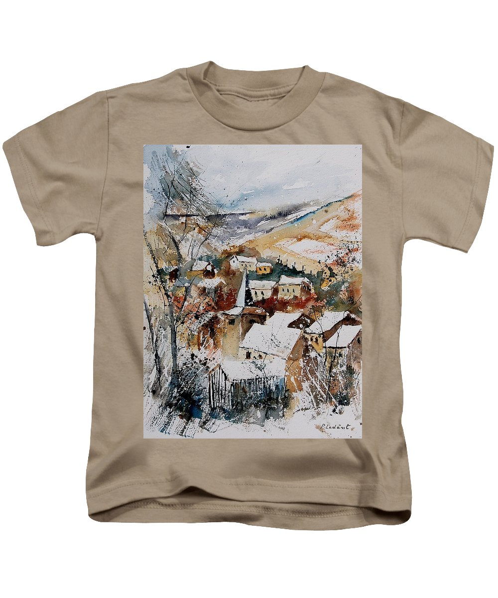 Winter Kids T-Shirt featuring the painting Watercolor 904002 by Pol Ledent