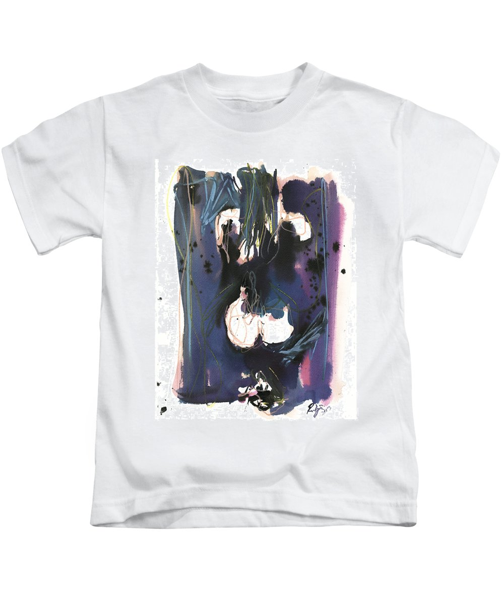 Figure Kids T-Shirt featuring the painting Kneeling by Robert Joyner