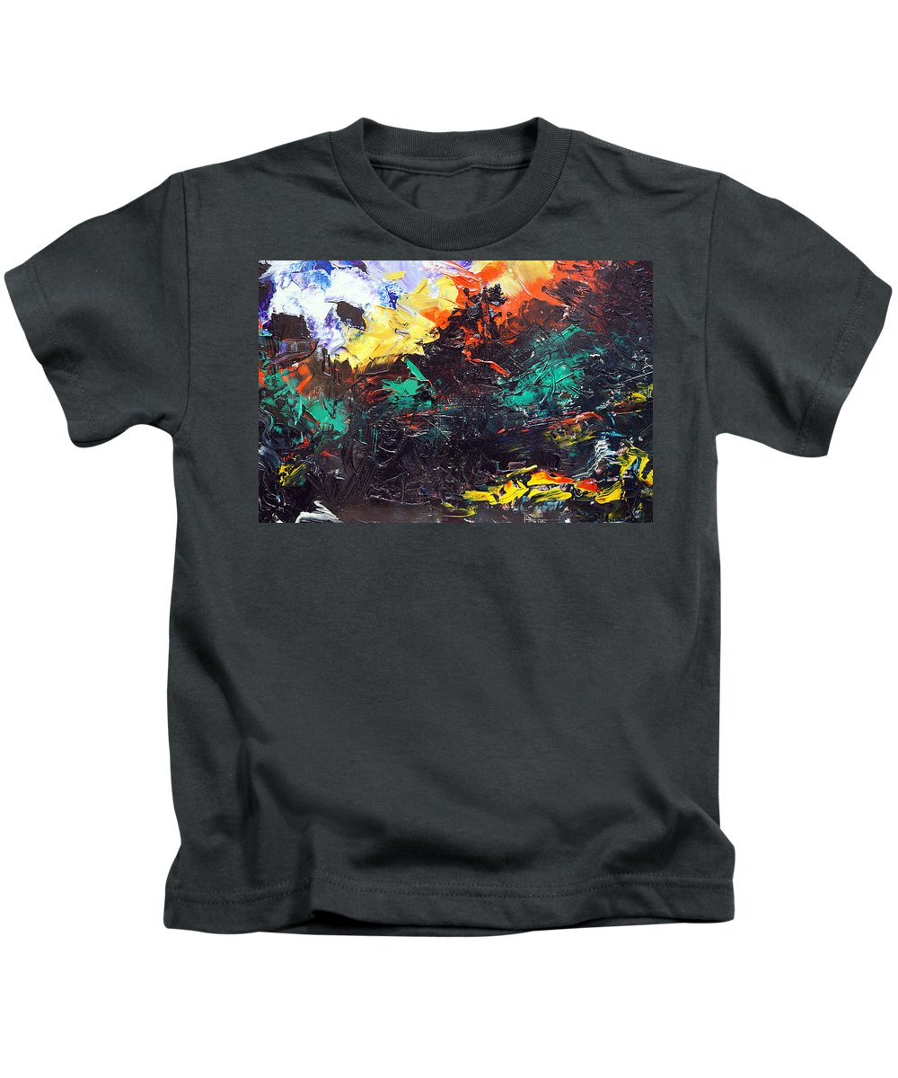 Vision Kids T-Shirt featuring the painting Schizophrenia by Sergey Bezhinets