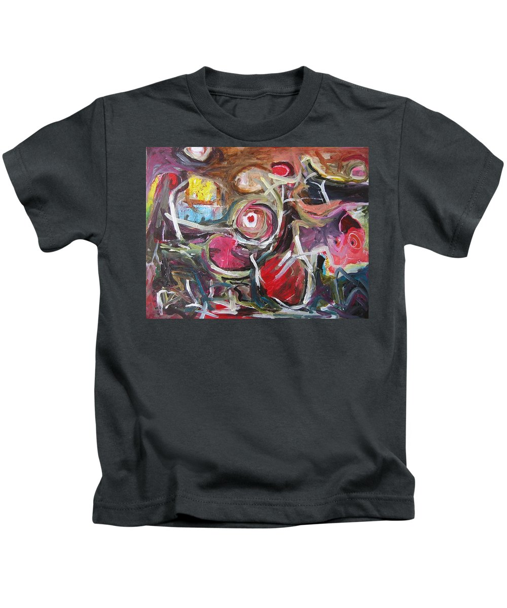 Abstract Paintings Kids T-Shirt featuring the painting Abandoned Ideas3 by Seon-Jeong Kim