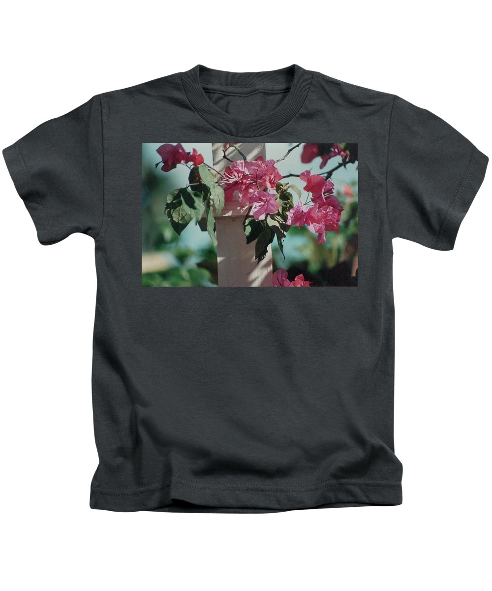 Charity Kids T-Shirt featuring the photograph Bouganvillea by Mary-Lee Sanders