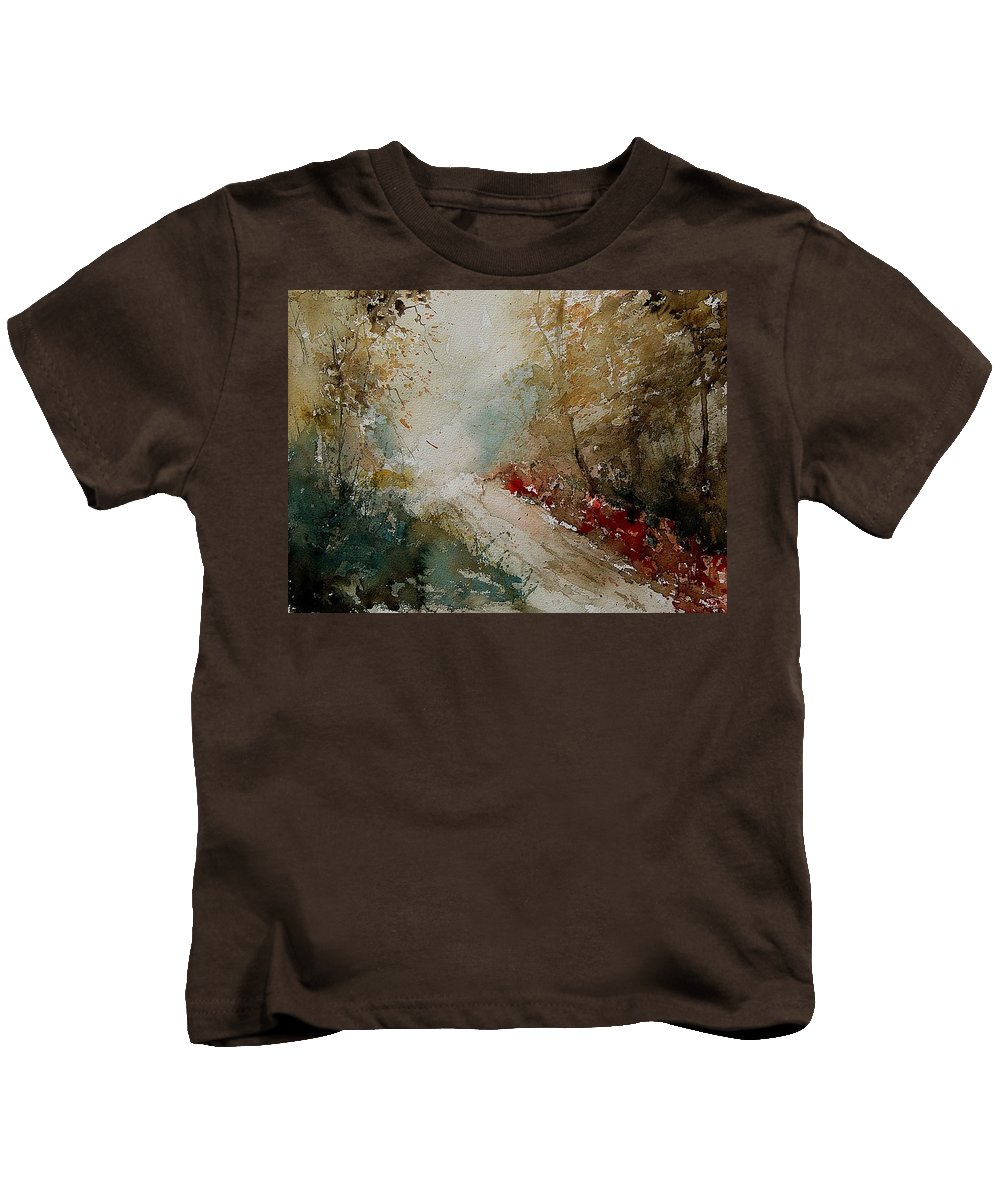 Tree Kids T-Shirt featuring the painting Watercolor 311005 by Pol Ledent