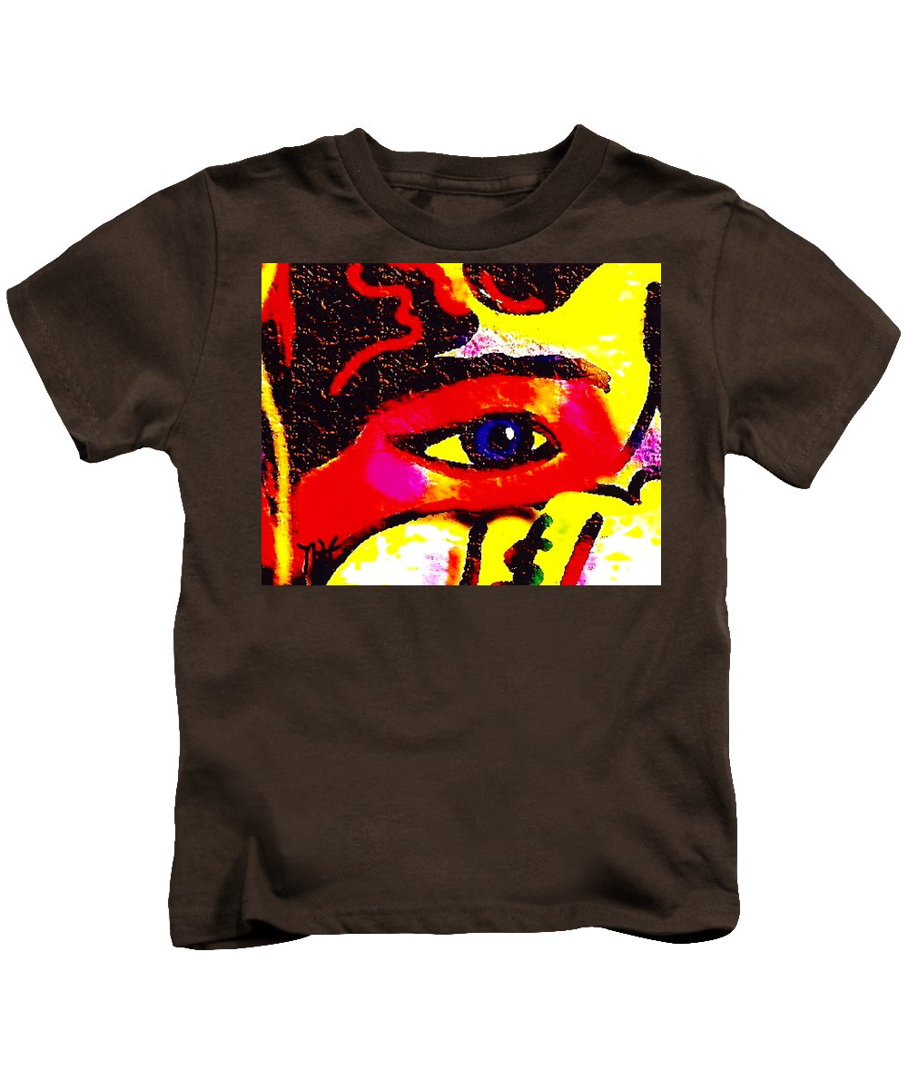Abstract Kids T-Shirt featuring the painting Window To The Soul by Natalie Holland
