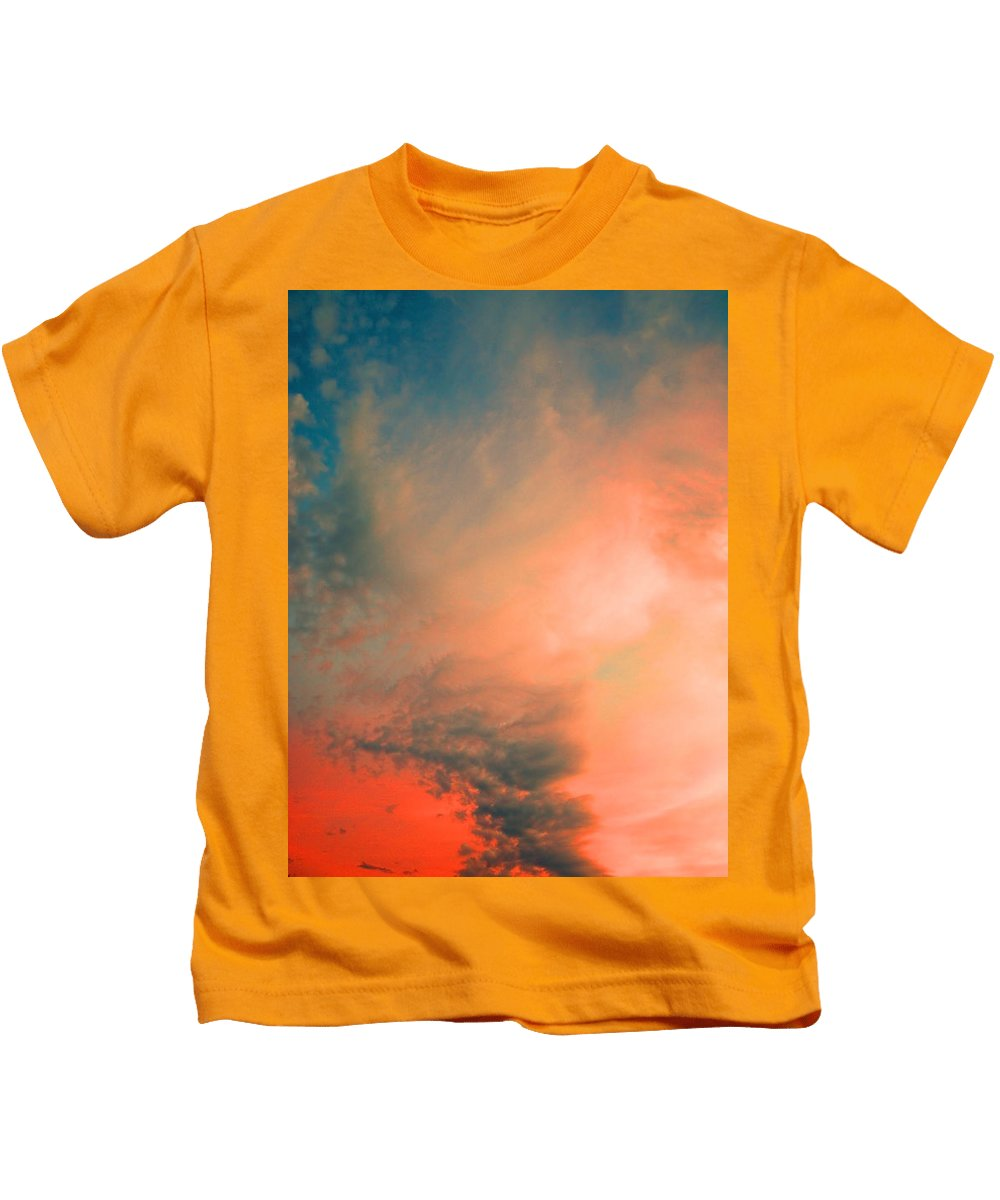 Clouds Kids T-Shirt featuring the photograph The Explosion by Tara Turner