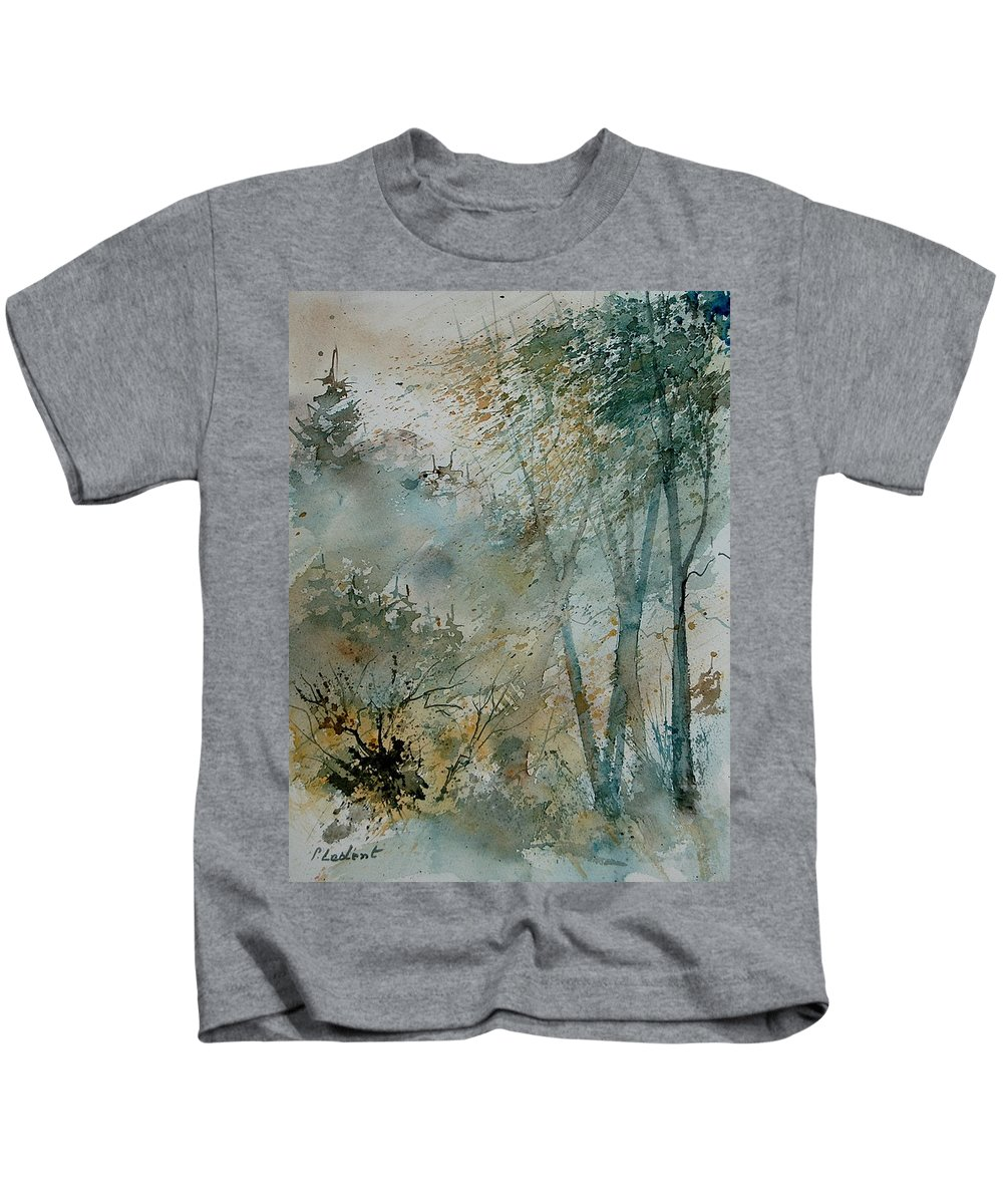 Tree Kids T-Shirt featuring the painting Watercolor 051008 by Pol Ledent