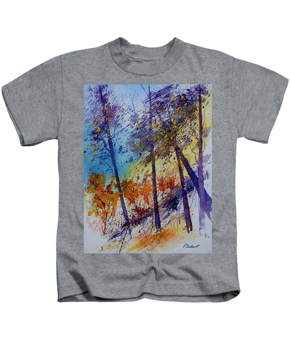 Spring Kids T-Shirt featuring the painting Watercolor 131108 by Pol Ledent