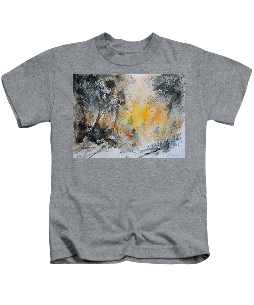 Tree Kids T-Shirt featuring the painting Watercolor 131206 by Pol Ledent