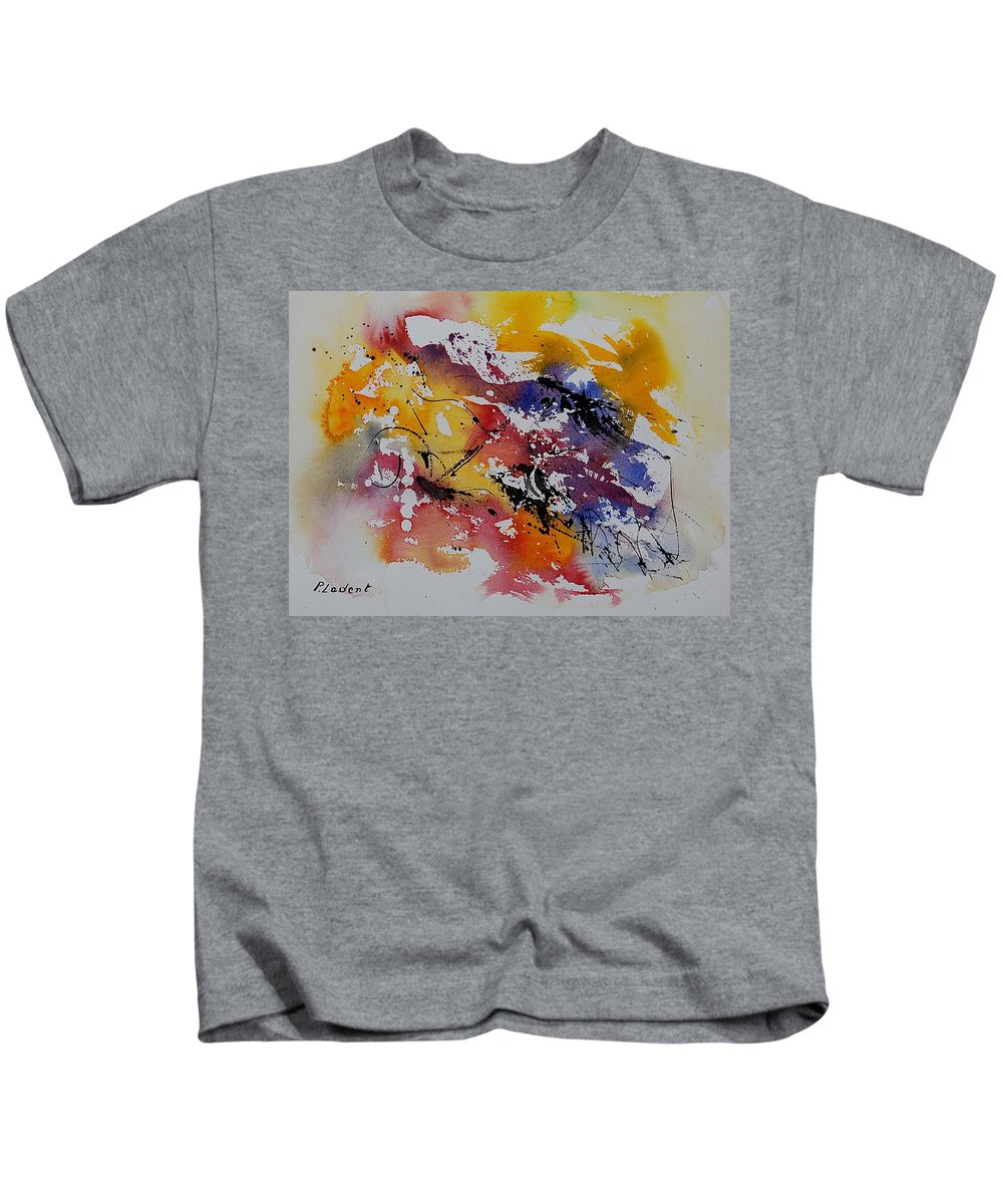 Abstract Kids T-Shirt featuring the painting Watercolor 902022 by Pol Ledent
