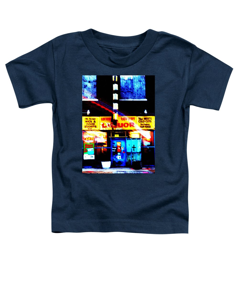 Store Toddler T-Shirt featuring the photograph Corner Store by Albert Stewart