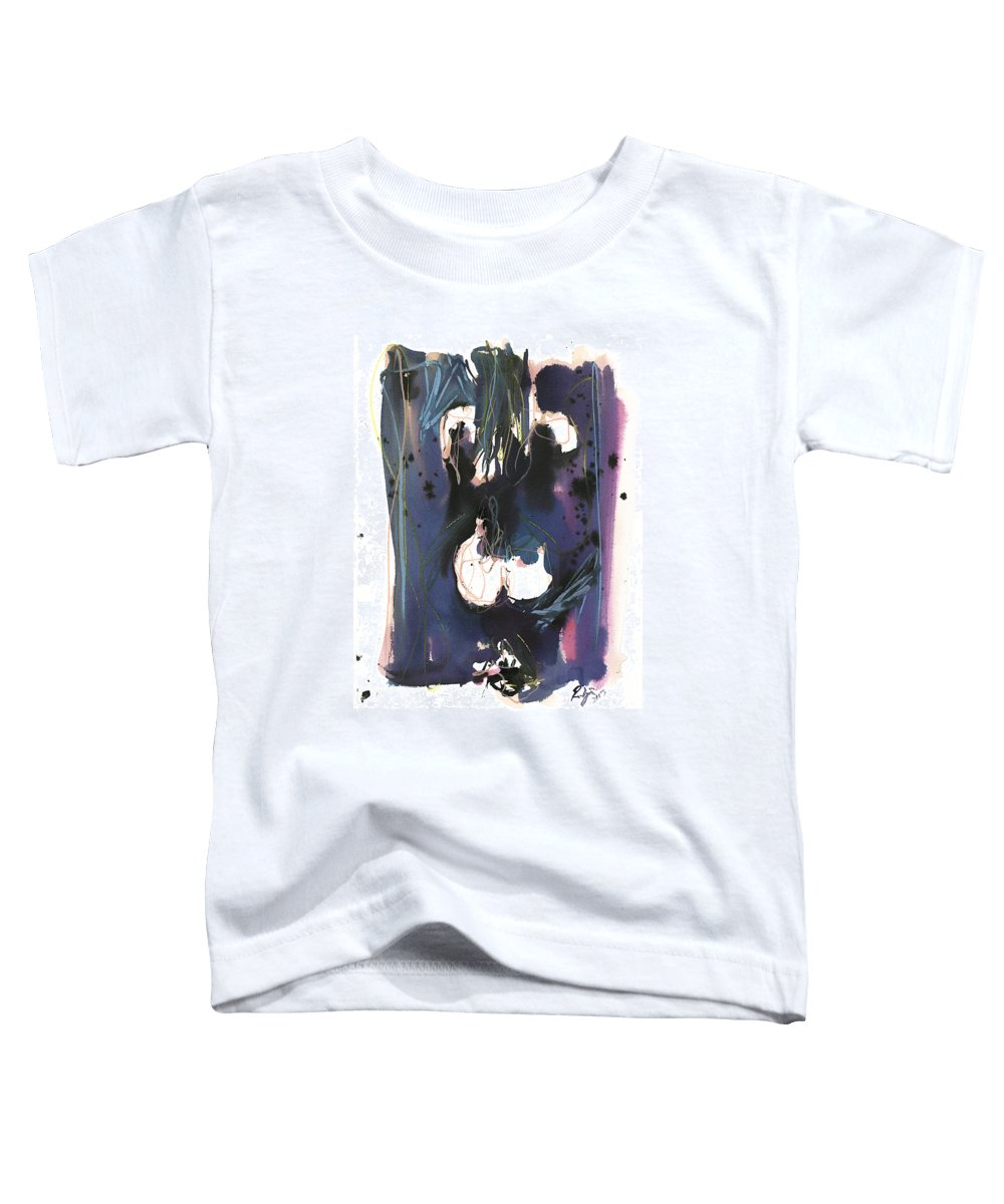 Figure Toddler T-Shirt featuring the painting Kneeling by Robert Joyner