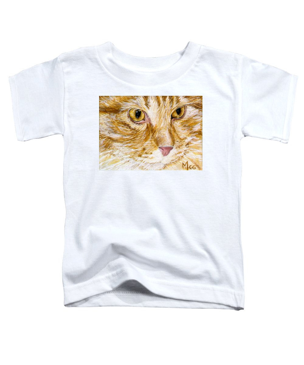 Charity Toddler T-Shirt featuring the painting Leo by Mary-Lee Sanders