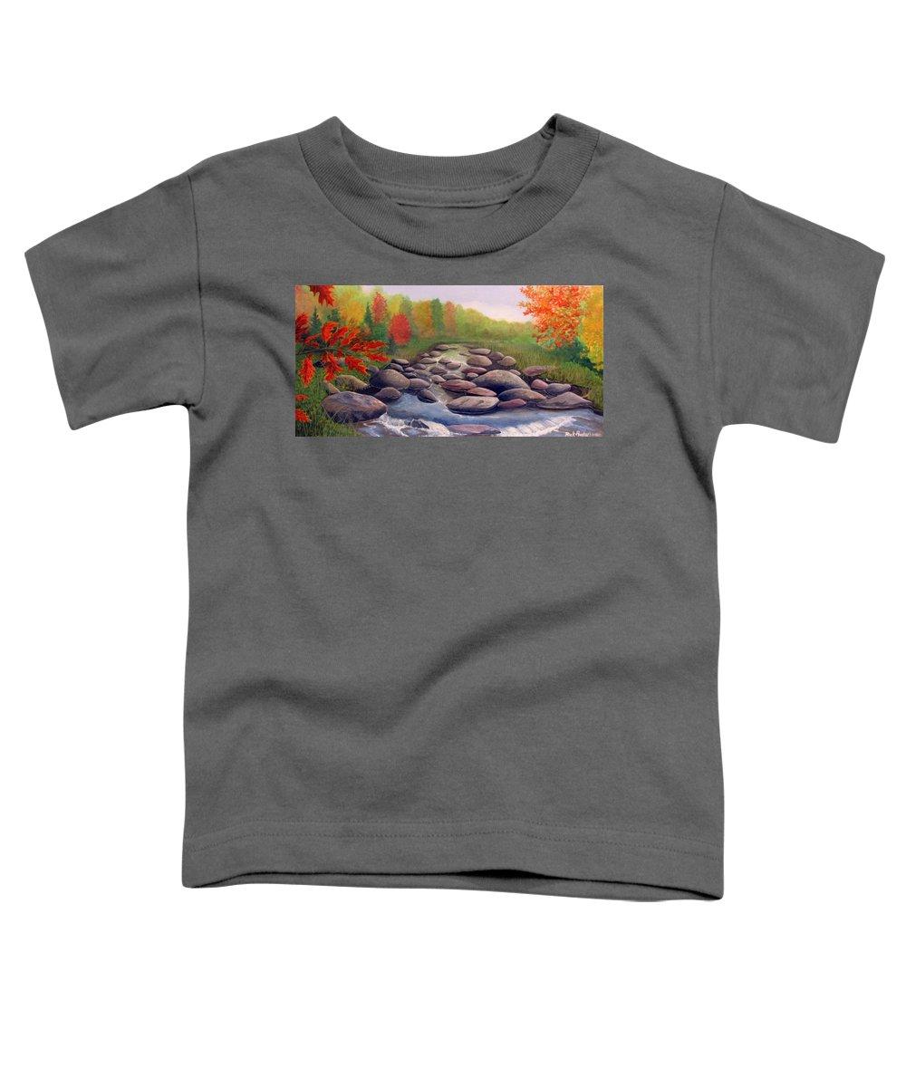 Rick Huotari Toddler T-Shirt featuring the painting Cherokee Park by Rick Huotari