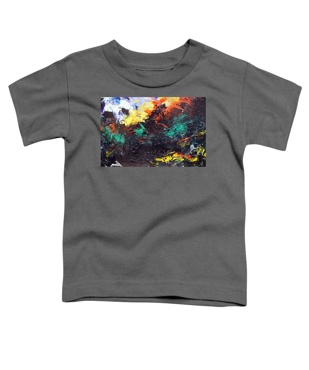 Vision Toddler T-Shirt featuring the painting Schizophrenia by Sergey Bezhinets