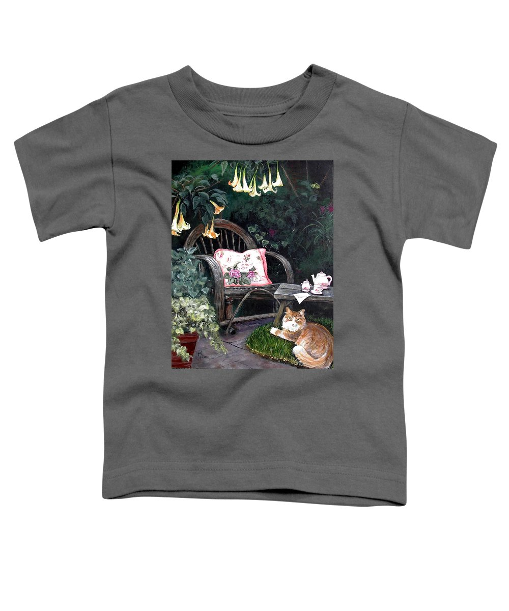 Charity Toddler T-Shirt featuring the painting My Secret Garden by Mary-Lee Sanders
