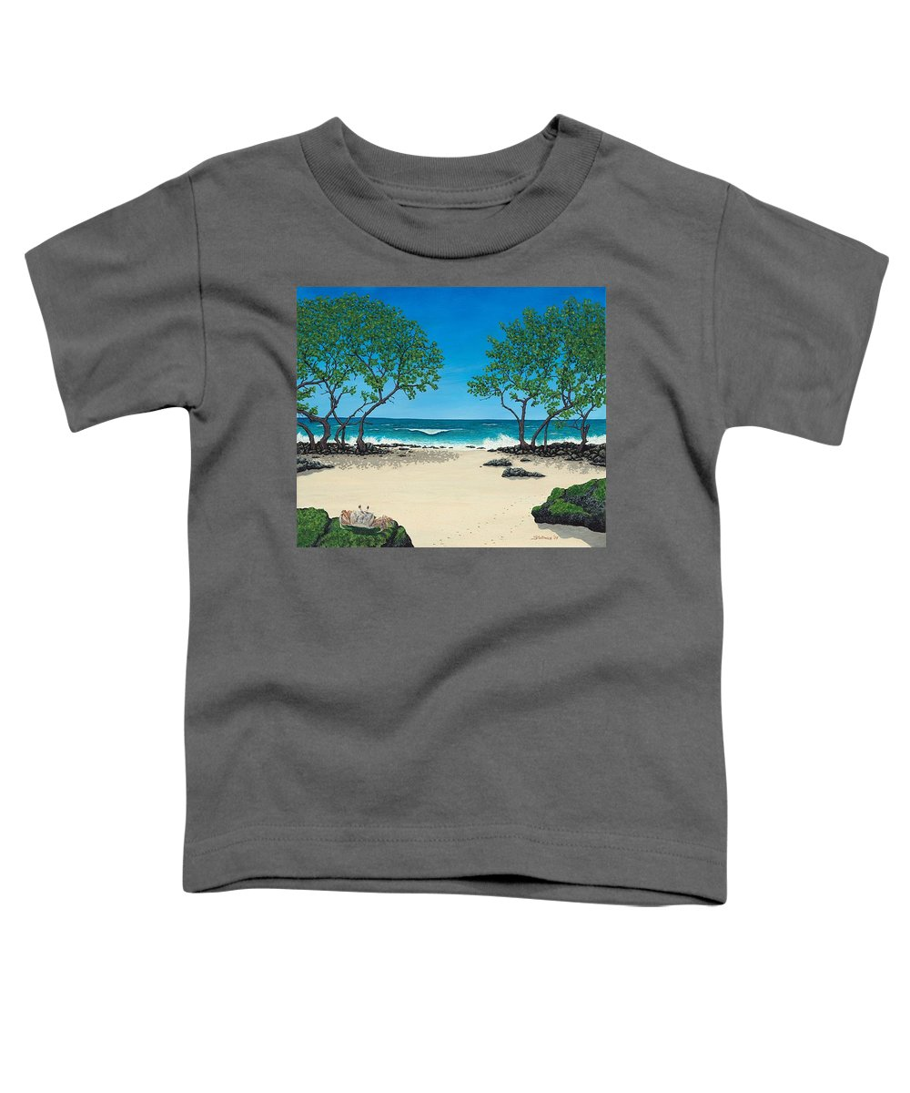 Ocean Toddler T-Shirt featuring the painting Where Is My Corona by Shawn Stallings