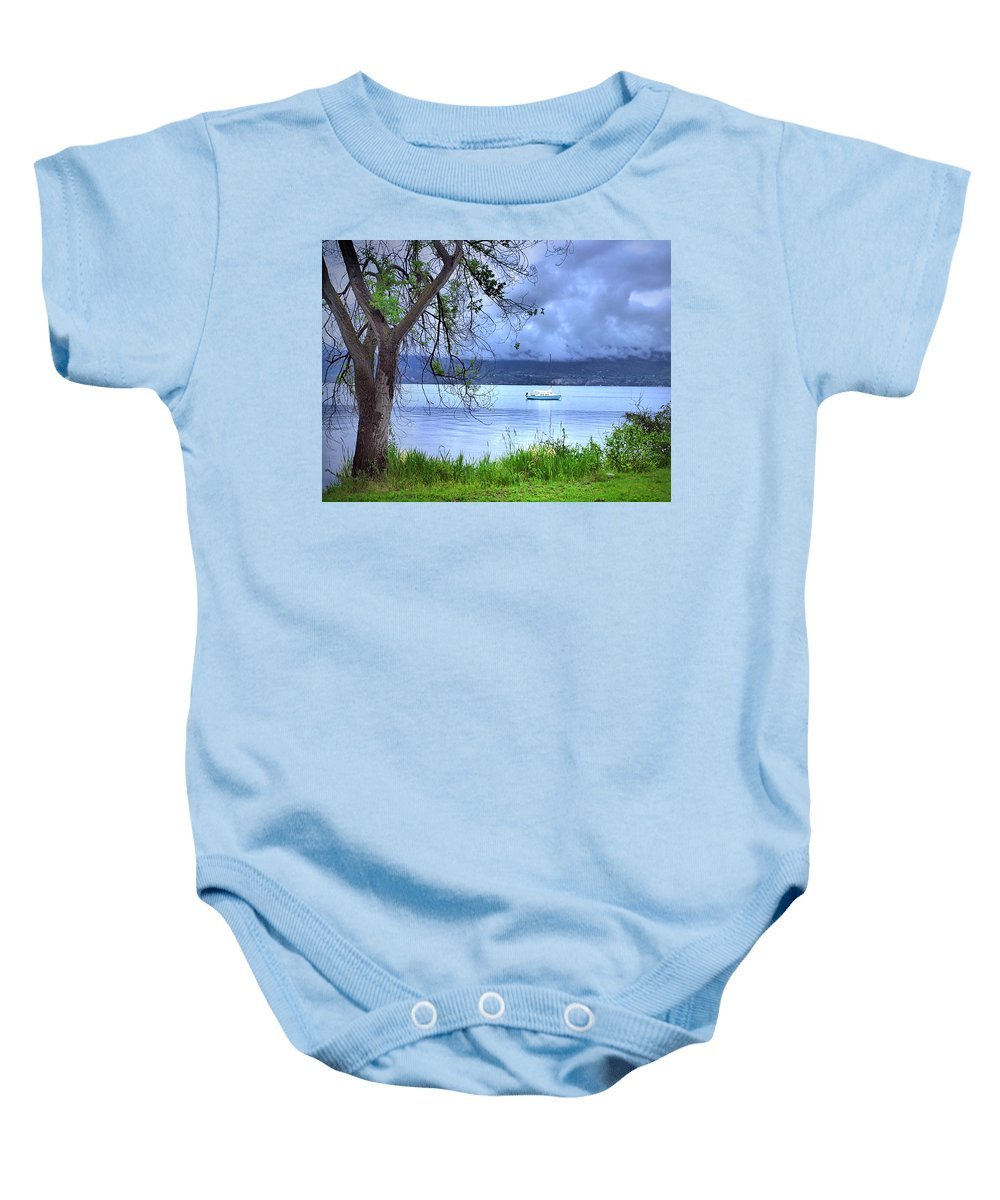 Tree Baby Onesie featuring the photograph Into The Blue by Tara Turner