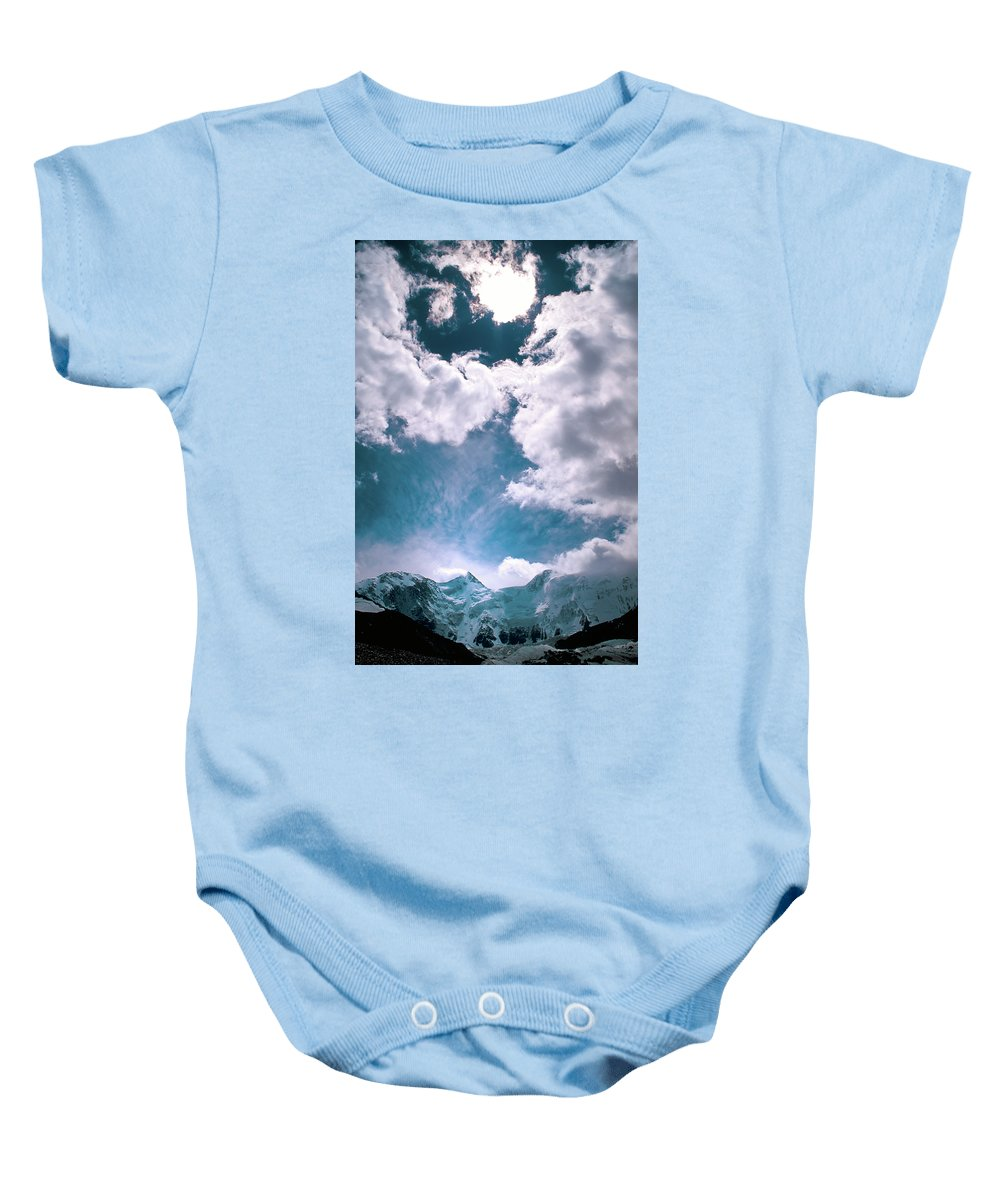 Alone Baby Onesie featuring the photograph Sacred Belukha by Konstantin Dikovsky