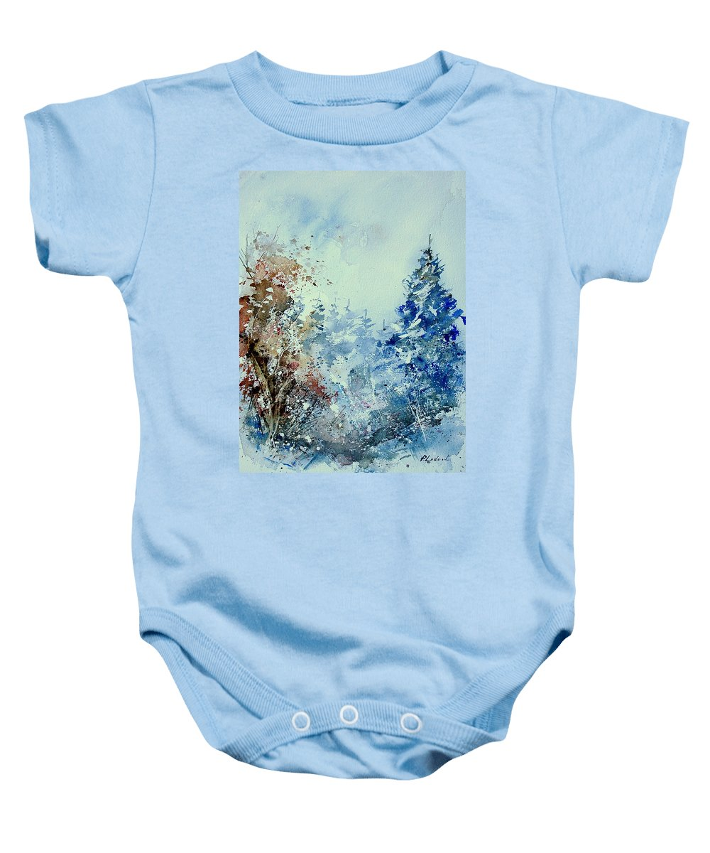 Tree Baby Onesie featuring the painting Watercolor 010307 by Pol Ledent