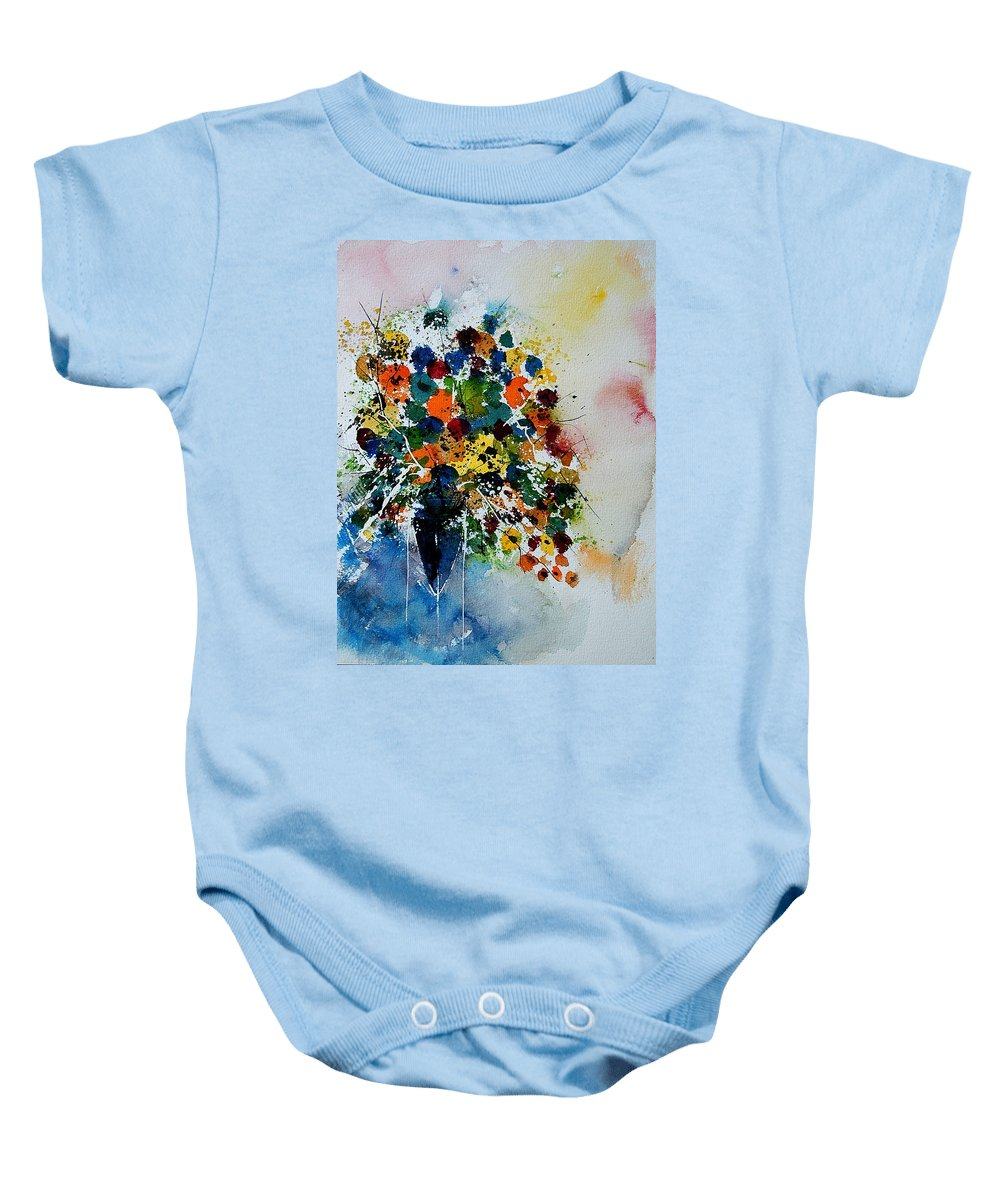 Flowers Baby Onesie featuring the painting Watercolor 220407 by Pol Ledent