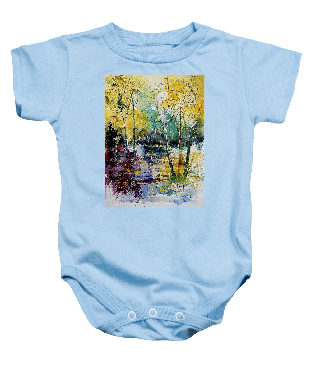 Water Baby Onesie featuring the painting Watercolor 280808 by Pol Ledent