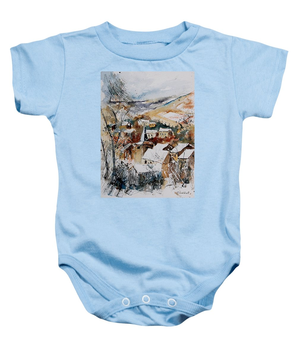 Winter Baby Onesie featuring the painting Watercolor 904002 by Pol Ledent