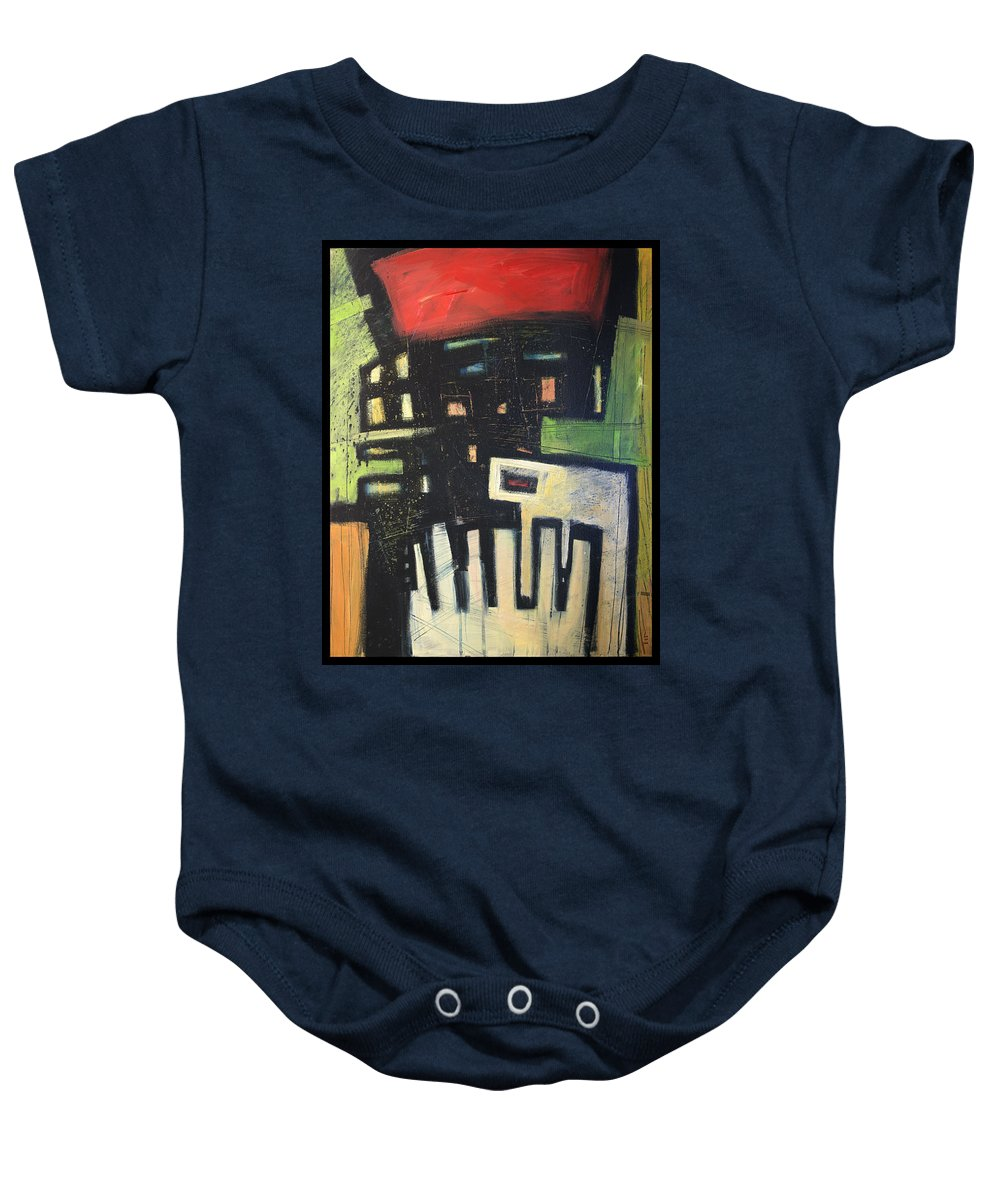 Abstract Baby Onesie featuring the painting D Flat by Tim Nyberg