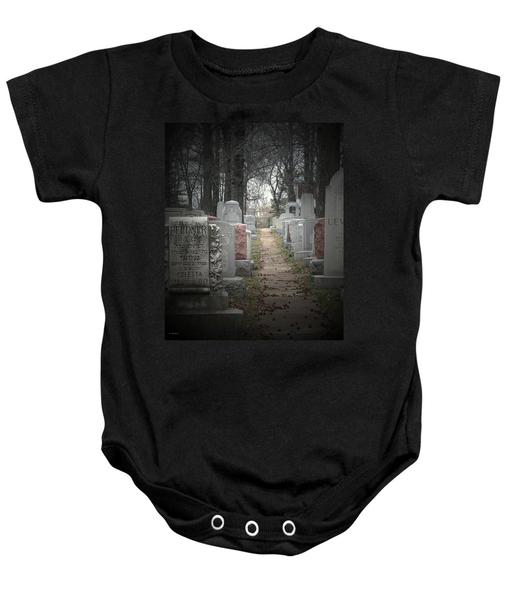 Cemetary Baby Onesie featuring the photograph Closure by Albert Stewart