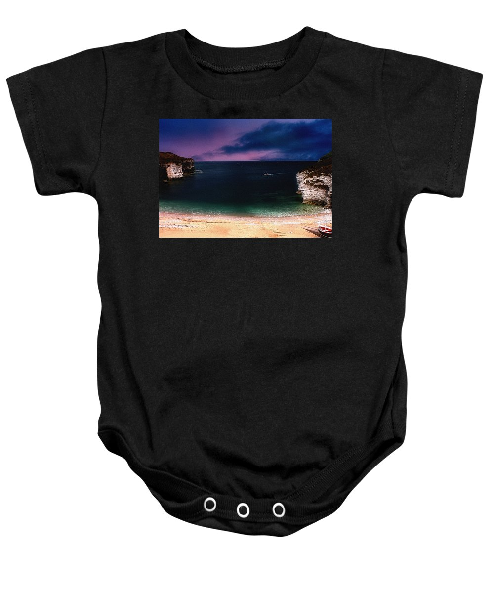 Sunset Baby Onesie featuring the photograph Evening On The Headland by Cliff Norton
