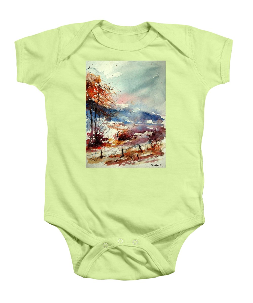 Winter Baby Onesie featuring the painting Watercolor 221108 by Pol Ledent