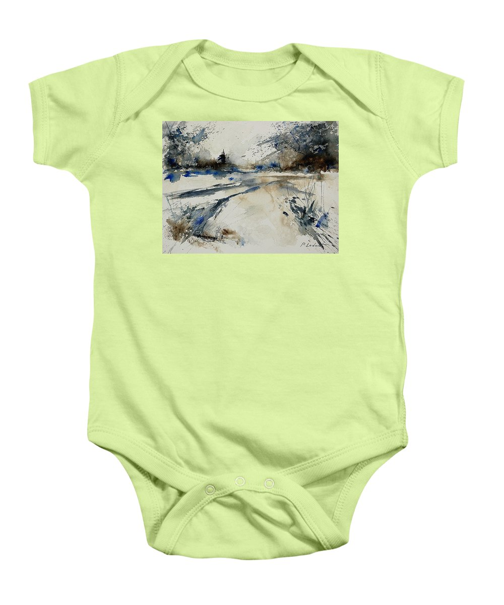 Winter Baby Onesie featuring the painting Watercolor 240906 by Pol Ledent