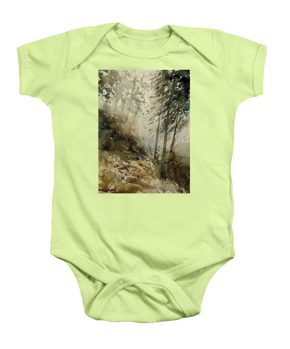 Tree Baby Onesie featuring the painting Watercolor 271005 by Pol Ledent