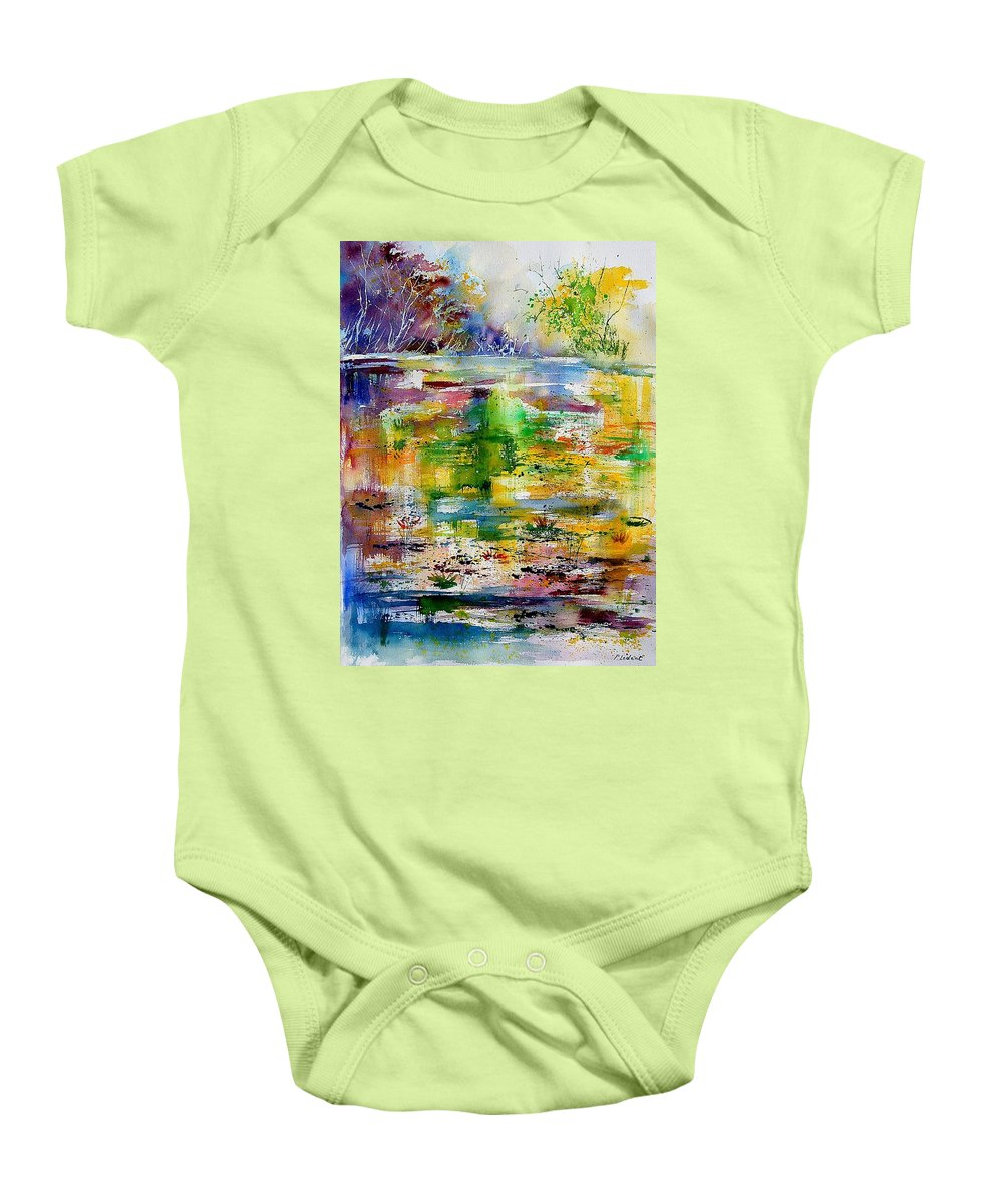 Water Baby Onesie featuring the painting Watercolor 6878 by Pol Ledent