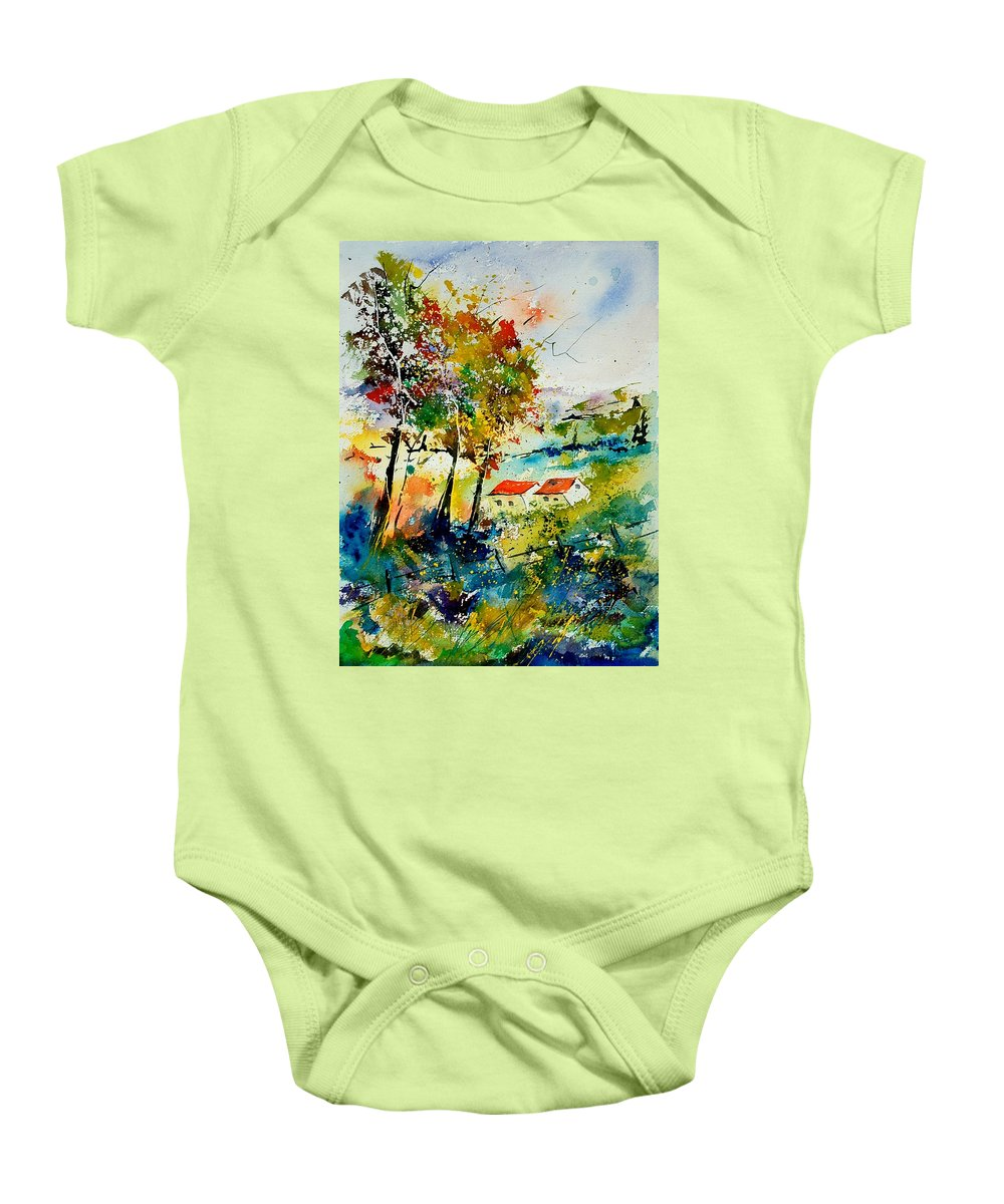 Poppies Baby Onesie featuring the painting Watercolor 903001 by Pol Ledent