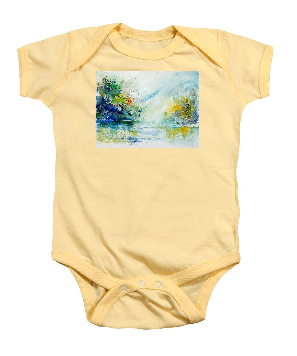 Water Baby Onesie featuring the painting Watercolor 903022 by Pol Ledent