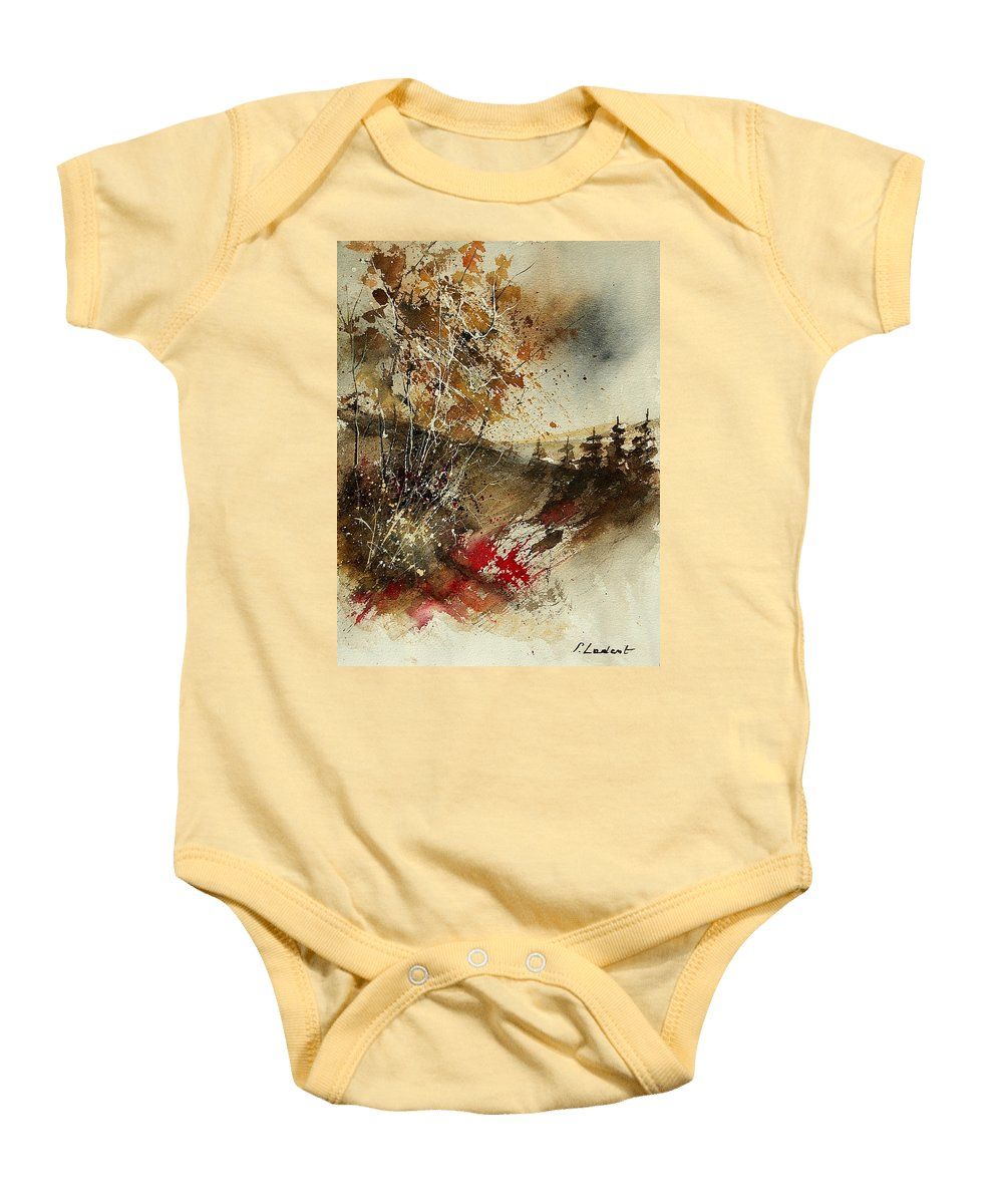 Tree Baby Onesie featuring the painting Watercolor 903052 by Pol Ledent