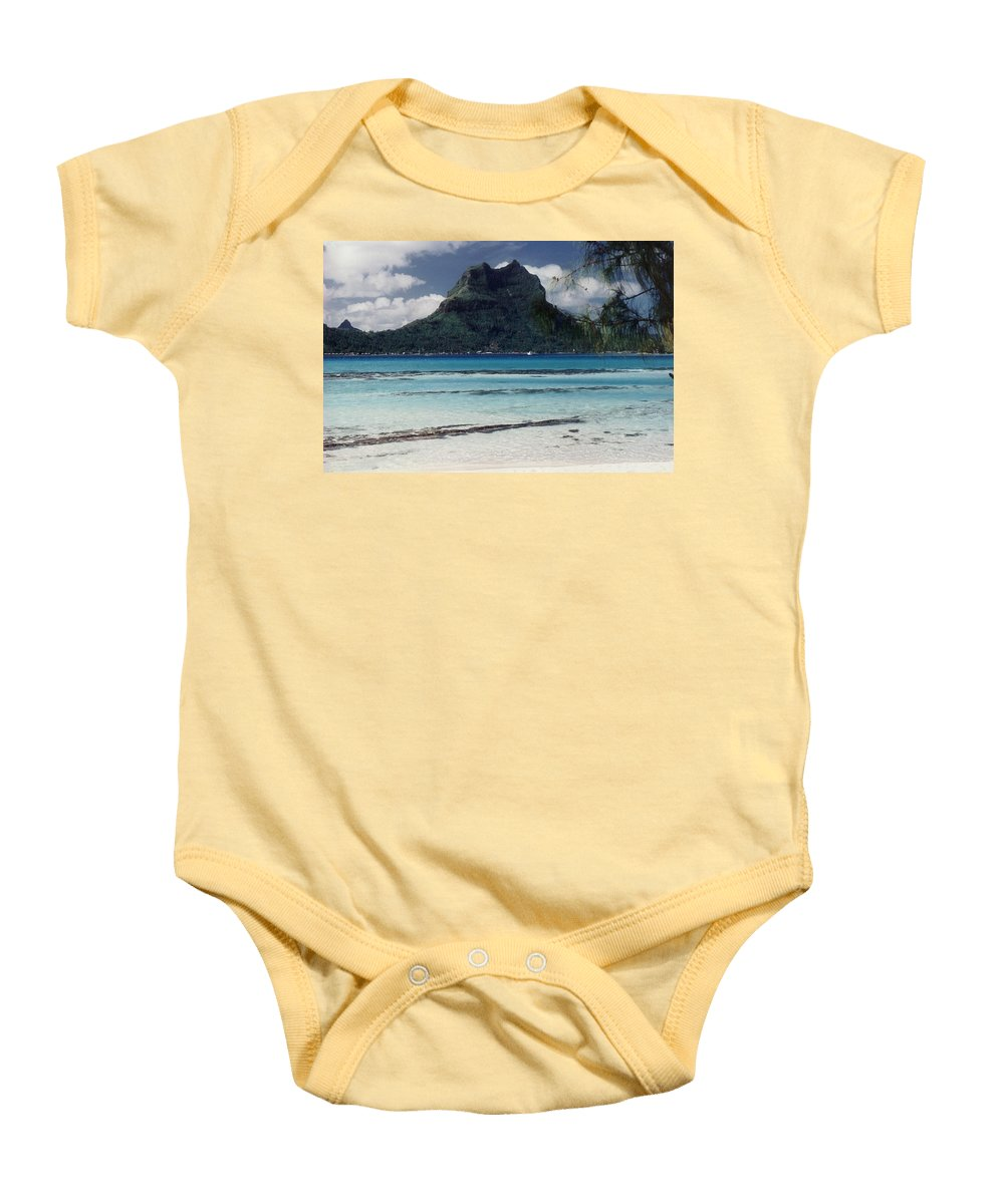 Charity Baby Onesie featuring the photograph Bora Bora by Mary-Lee Sanders